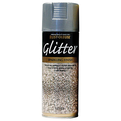 Image for Rust-Oleum Silver - Glitter Spray Paint - 400ml from StoreName