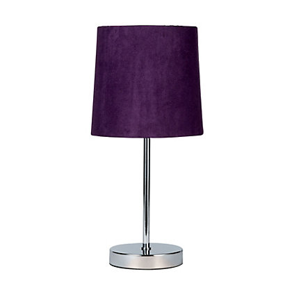 Image for Touch Faux Suede Table Lamp - Aubergine from StoreName