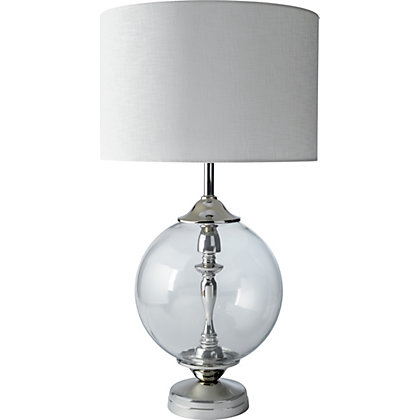 Image for Schreiber Welford Oversized Glass Table Lamp from StoreName