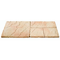 Brett Walton Paving Mixed Size Patio Pack 7.61sq m 33 Pack - Warm Silk