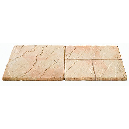 Image for Brett Walton Paving Mixed Size Patio Pack 7.61sq m 33 Pack - Warm Silk from StoreName