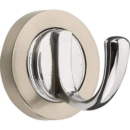 Image for Hiatt Decorative Round Hook - Two Tone Chrome from StoreName