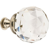 Hiatt Decorative Crystal Ball Hook - Clear