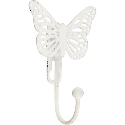 Image for Hiatt Decorative Butterfly Hook - White from StoreName