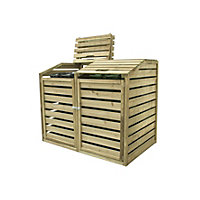 Forest Bi-Fold Roof Wooden Bin Hide