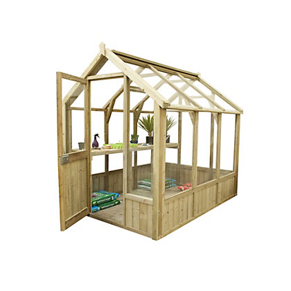 Image for Forest Vale Wooden Greenhouse - 8x6ft from StoreName