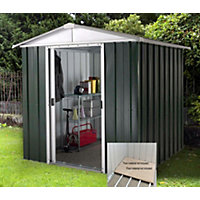 Yardmaster Hercules Deluxe Apex Metal Shed with Floor Frame - 6x4ft