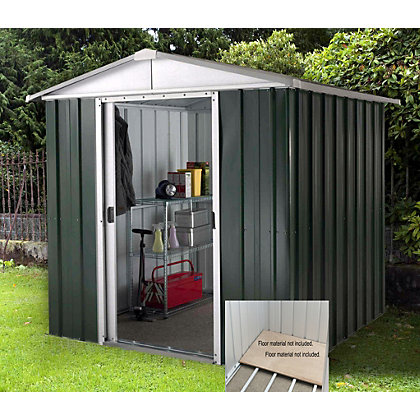 Image for Yardmaster Hercules Deluxe Apex Metal Shed with Floor Frame - 6x4ft from StoreName