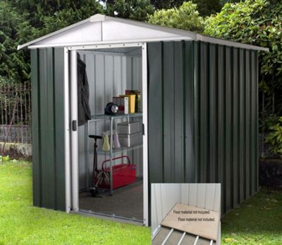 Yardmaster Hercules Deluxe Apex Metal Shed with Floor Frame - 6x8ft