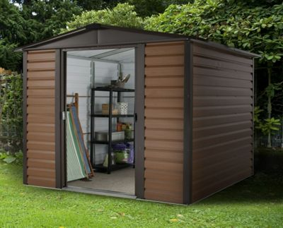 Yardmaster Woodgrain Metal Shed - 6x6ft