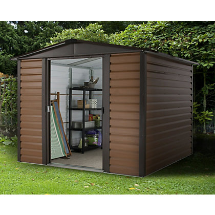 Image for Yardmaster Woodgrain Metal Shed - 6x6ft from StoreName