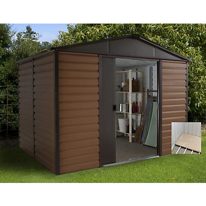 Image for Yardmaster Woodgrain Shed & Floor Frame - 8x6ft from StoreName