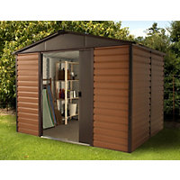 Yardmaster Woodgrain Metal Shed - 10x6ft
