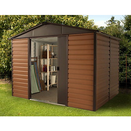 Image for Yardmaster Woodgrain Metal Shed - 10x6ft from StoreName