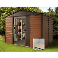 Yardmaster Woodgrain Shed & Floor Frame - 10x8ft