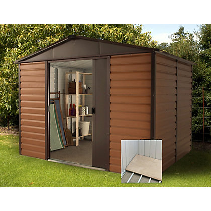 Image for Yardmaster Woodgrain Shed & Floor Frame - 10x8ft from StoreName