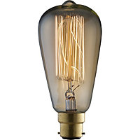 Rustic ST64 60W B22 Dimmable Light Bulb