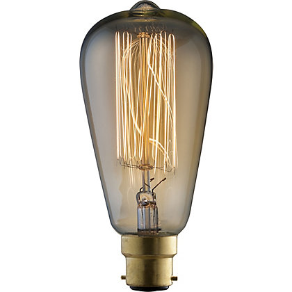 Image for Rustic ST64 60W B22 Dimmable Light Bulb from StoreName