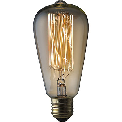 Image for Rustic ST64 60W E27 Dimmable Light Bulb from StoreName