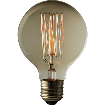 Image for Rustic Globe 60W E27 Dimmable Light Bulb from StoreName