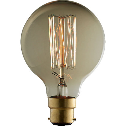 Image for Rustic Globe 60W B22 Dimmable Light Bulb from StoreName