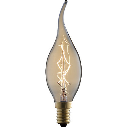 Image for Rustic Candle Flame Tip 40W E14 Dimmable Light Bulb from StoreName