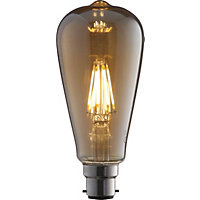 LED Filament ST64 6W B22 Vintage Light Bulb