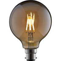 LED Filament Globe 6W B22 Vintage Light Bulb