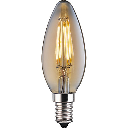 Image for LED Filament Candle 4W E14 Vintage Light Bulb from StoreName