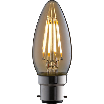 Image for LED Filament Candle 4W B22 Vintage Light Bulb from StoreName