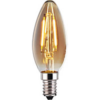 LED Filament Candle 2W E14 Vintage Light Bulb