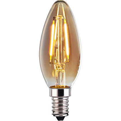 Image for LED Filament Candle 2W E14 Vintage Light Bulb from StoreName
