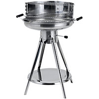 Tepro Winston Stainless Steel Round Grill Charcoal BBQ - Silver