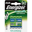 Energizer Rechargeable AAA 700mAh Batteries - 4 Pack