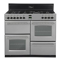 Belling Classic 100GT Gas Range Cooker - Silver.