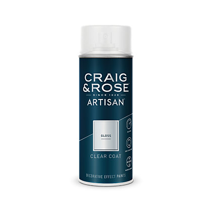 Image for Craig & Rose Artisan Clear Gloss Spray Paint - 400ml from StoreName