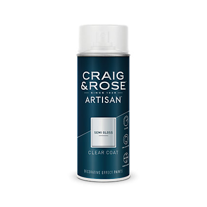 Image for Craig & Rose Artisan Clear Semi Gloss Spray Paint - 400ml from StoreName