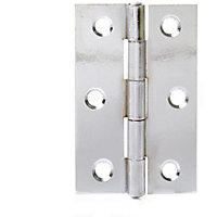 Butt Hinge Chrome Plated - 75mm - Pack of 2