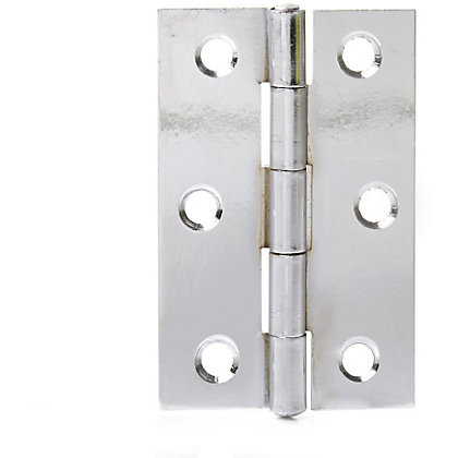 Image for Butt Hinge Chrome Plated - 75mm - Pack of 2 from StoreName