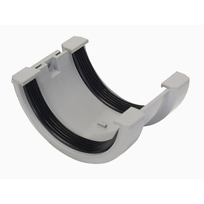 Image for 76mm Half Round Joint Bracket - Grey - 46 x 91 x 64mm from StoreName