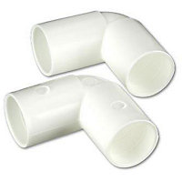 Overflow 90 Degree Bend - 22mm - Pack 2