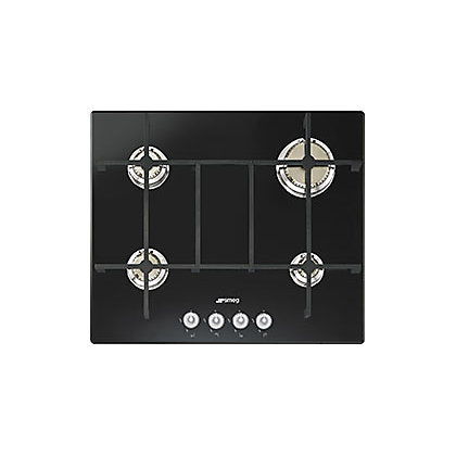 Image for Smeg PV640N 4 Burner Gas Hob - Black Glass from StoreName