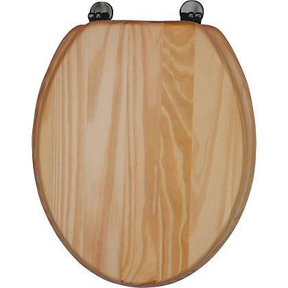 Image for Blonde Pine Toilet Seat from StoreName