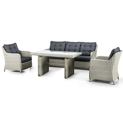 Image for Suns Almeria Rattan Effect 5 Seater Garden Sofa Set - Natural from StoreName