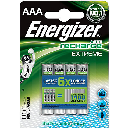 Image for Energizer Rechargeable AA 2300mAh Batteries - 4 Pack from StoreName