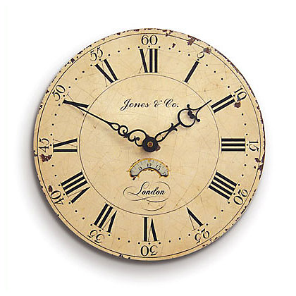 silver day and date wall clock 133010