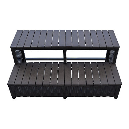 Image for Canadian Spa Rattan Square Spa Step for 90In Hot Tub from StoreName