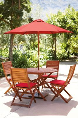 Peru Round Garden Furniture Set - 4 Seater