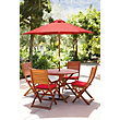 Peru - Round Dining Set with Folding Chairs - 4 Seater