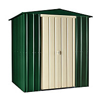 Lotus Heritage Green Apex Metal Shed - 6x3ft